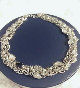 titanium necklace with stones